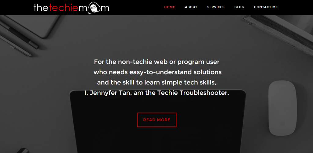 The Techie Mom Landing Page