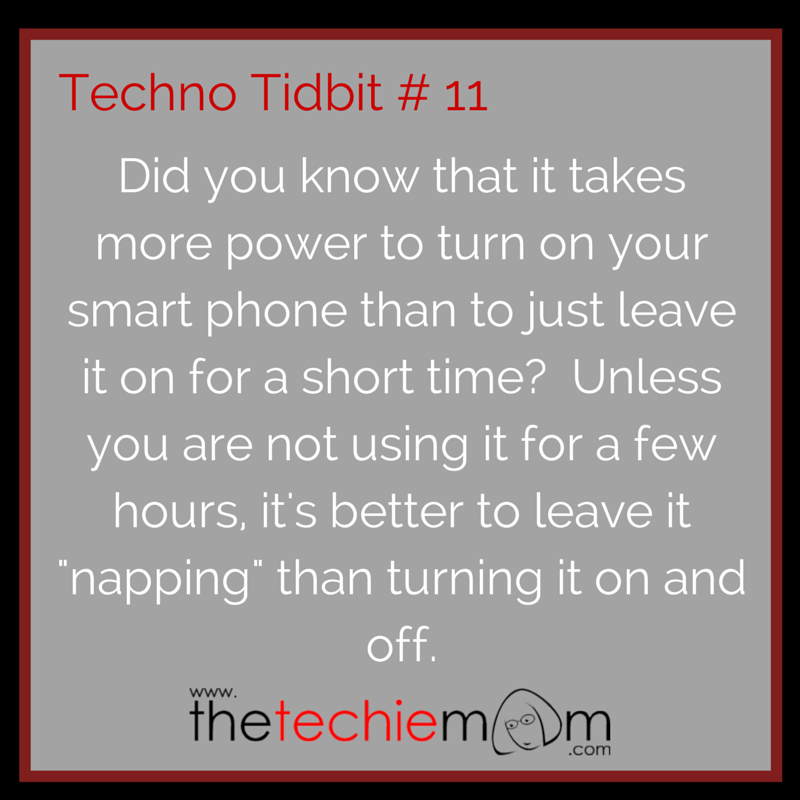 Techno Tidbit #11: Smart Phone Power Saving Tip