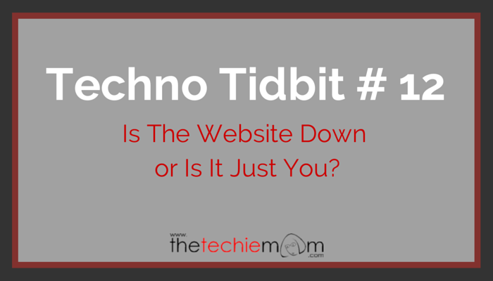 Techno Tidbit #12: Is the website really down or is it just you?
