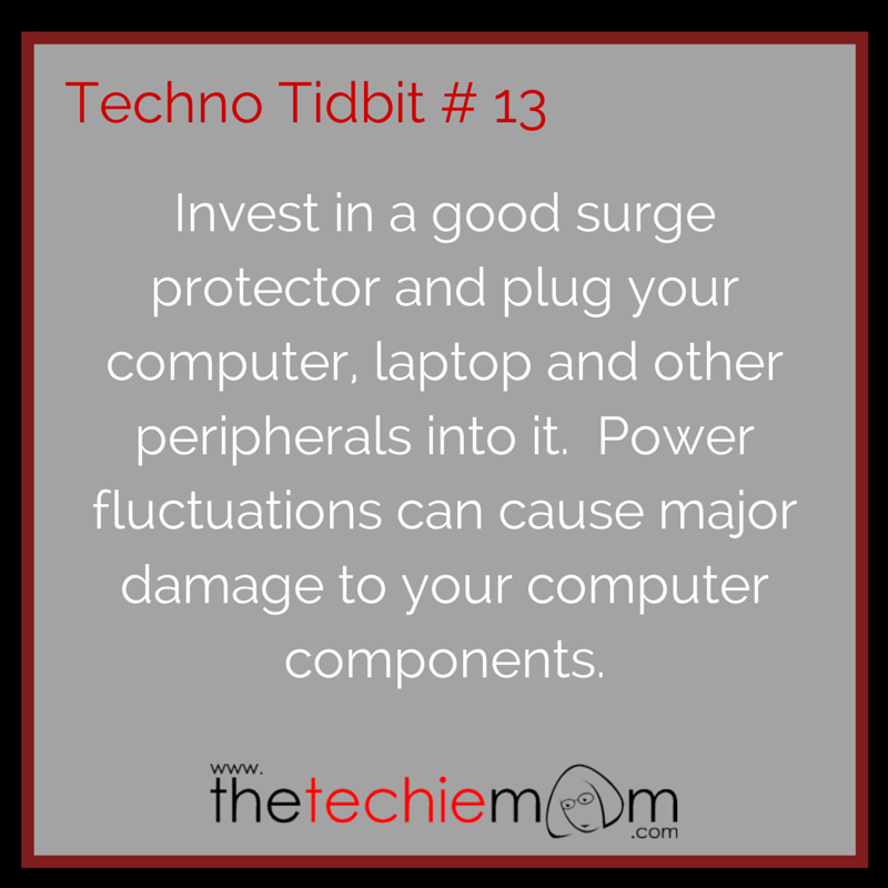 Techno Tidbit #13: Use A Surge Protector