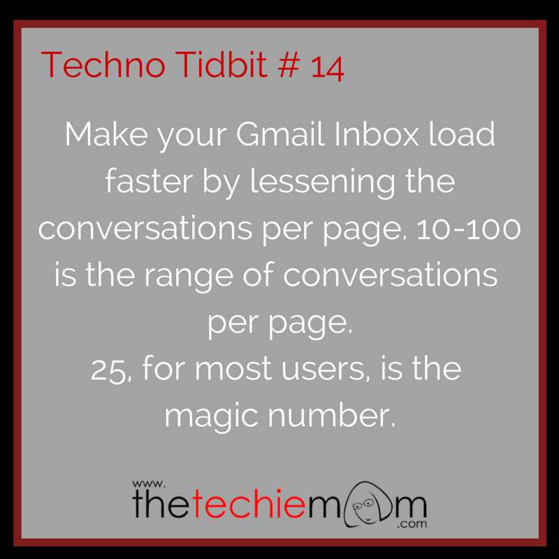 Techno Tidbit #14 Lessen Conversations on Gmail