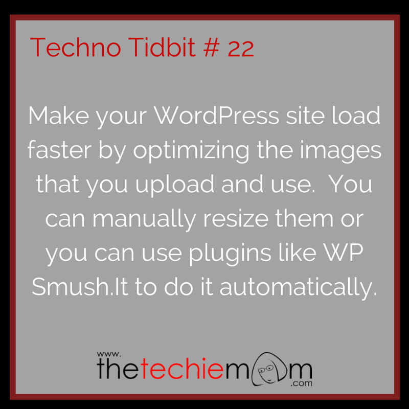 Techno Tidbit #22 Make your wordpress site load faster