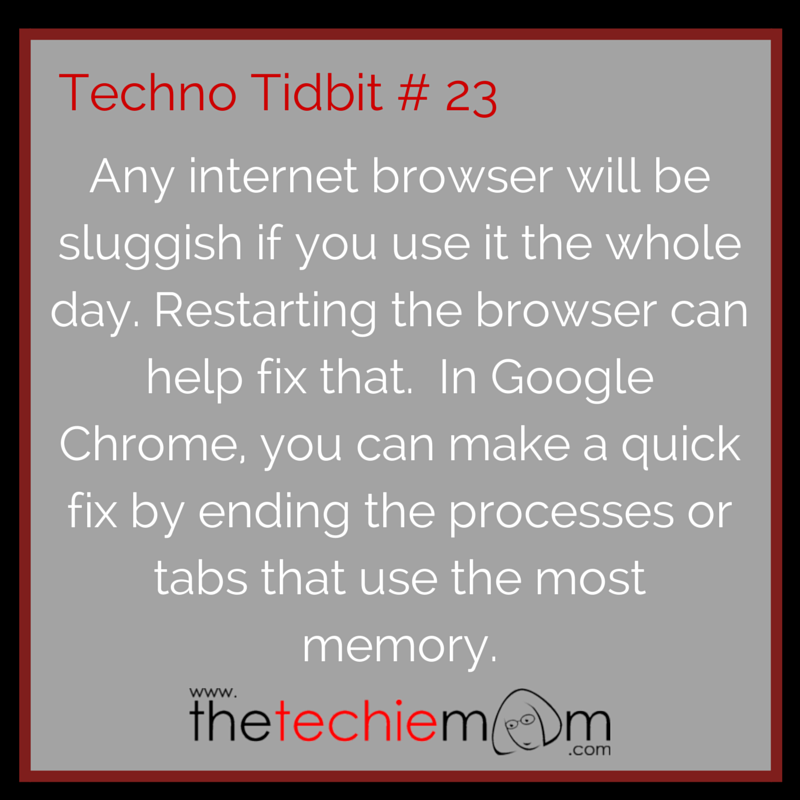 Techno Tidbit #23 Quick Fix for a sluggish google chrome