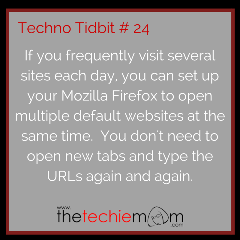 Techno Tidbit #24 open multiple tabs when starting mozilla firefox