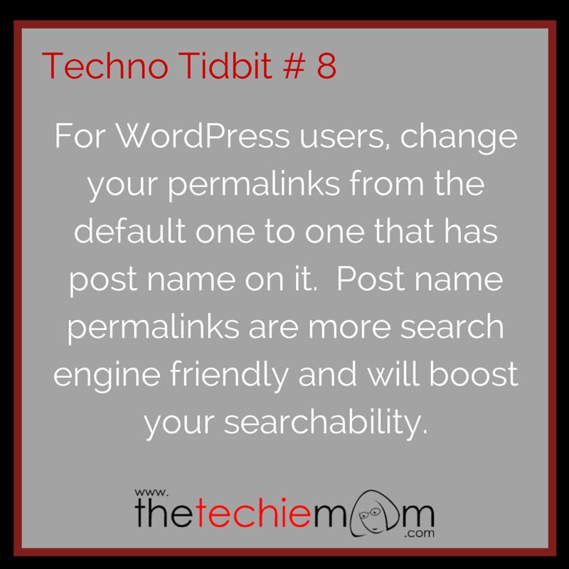 Techno Tidbit #8